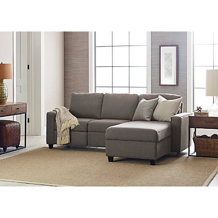 Serta Palisades Reclining Sectional With Storage Chaise, Right, Gray/Espresso