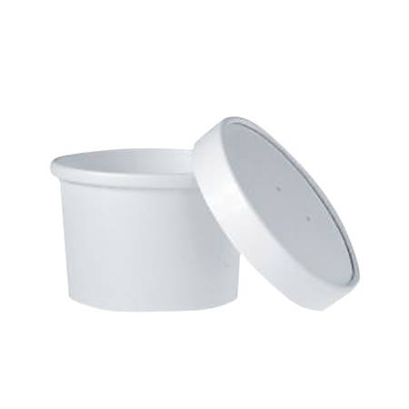 Dart® Flexstyle® Double Poly Food Combo Packs, 0.25 Qt, White, Carton Of 25 Packs