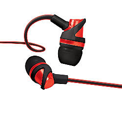 Bytech Vibrant Earbuds Red BYAUEB132RD