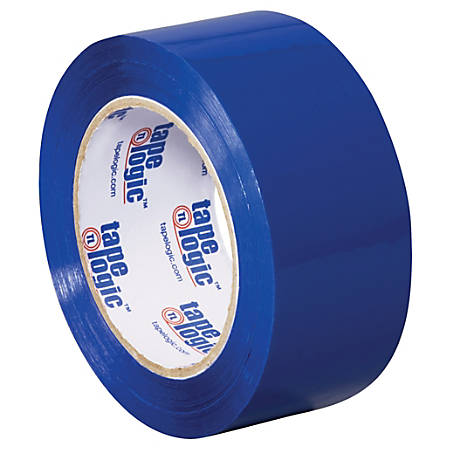 "Tape Logic® Carton-Sealing Tape, 3"" Core, 2"" x 110 Yd., Blue, Pack Of 6"