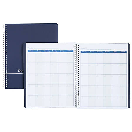 "Mead® Teacher's Plan Book, 8 1/2"" x 11"", Assorted Colors (No Color Choice)"