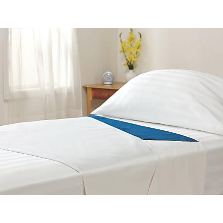 """Med-Glide™ Patient Positioning Sheets, 71"""" x 38"""", Blue/White, Case Of 12"""