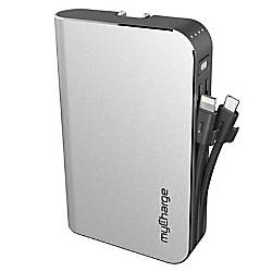 myCharge HubMax Portable Charger Silver HB10V