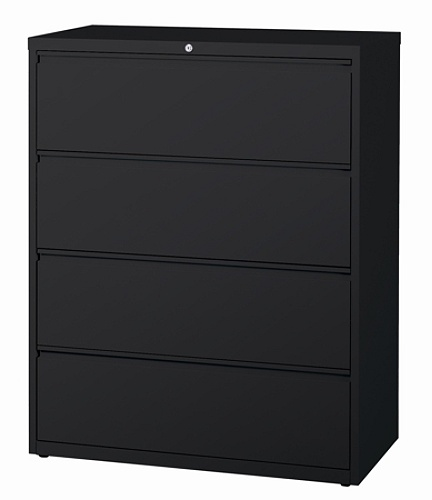 Workpro 42 W 4 Drawer Letter Legal Size Metal Lateral File Cabinet Black Item 361316