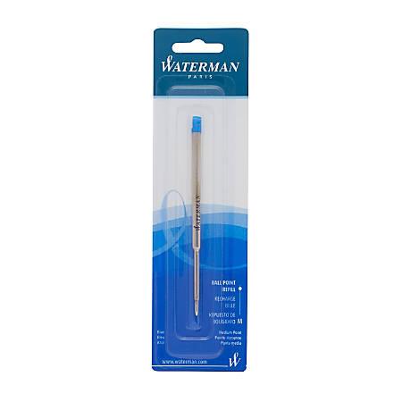 Waterman® Ballpoint Pen Refill, Medium Point, 0.7 mm, Blue