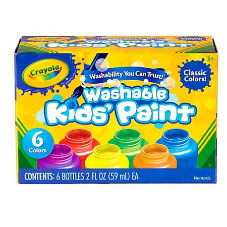 Crayola® Washable Paint, 2 Oz, Pack Of 6