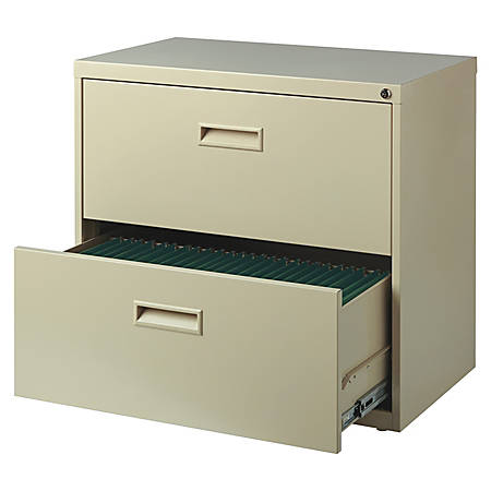 """Realspace® SOHO 30""""W 2-Drawer Metal Lateral File Cabinet, Putty"""