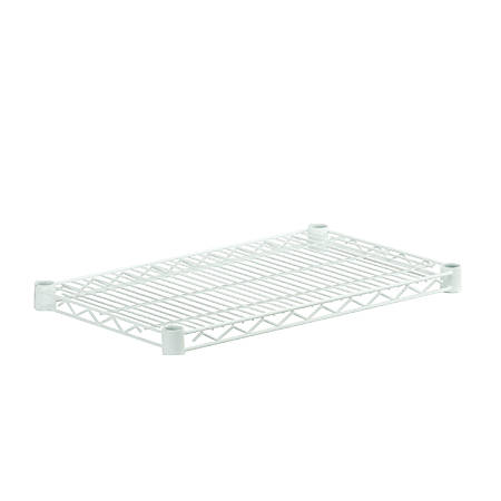 "Honey-Can-Do Plated Steel Shelf, 14"" x 24"", White"