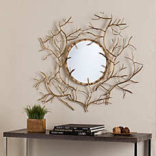 Southern Enterprises Branch Round Mirror 32
