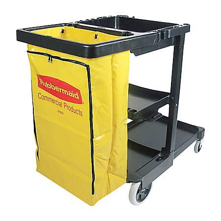 Rubbermaid® Janitor Cart with 25-Gallon Zipper Vinyl Bag