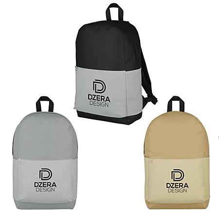 "Subtle Tones Backpack, 16 1/2""H x 10""W x 5 1/4""D, Assorted Colors"
