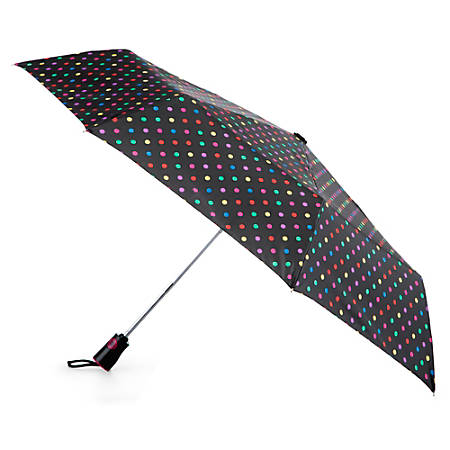 Totes Auto-Open And Close Umbrella, Medium, Candy Dots