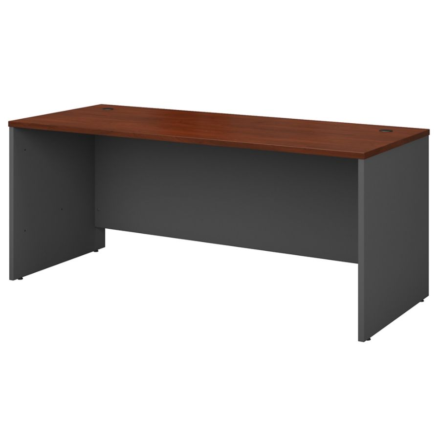 Bush Business Furniture Components Desk 72 W X 30 D Hansen CherryGraphite  Gray Standard Delivery By Office Depot U0026 OfficeMax
