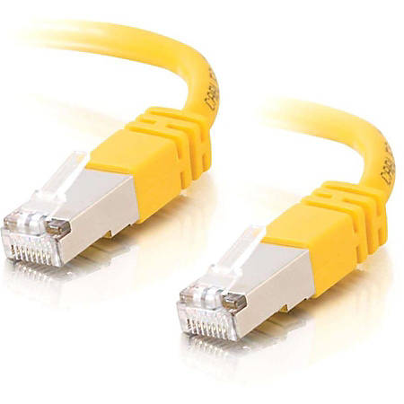 C2G-100ft Cat5e Molded Shielded (STP) Network Patch Cable - Yellow - Category 5e for Network Device - RJ-45 Male - RJ-45 Male - Shielded - 100ft - Yellow