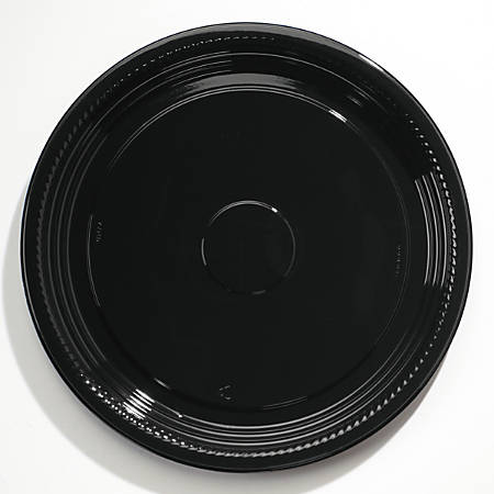 "WNA Caterline® Casuals™ Thermoformed Platters, 16"" Diameter, Black, Pack Of 25 Platters"