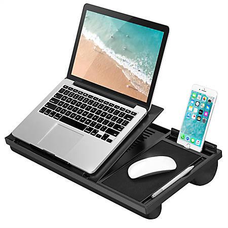 """LapGear Ergo Pro Lap Desk, 3.1""""H x 20.5""""W x 10.5""""D, Black"""