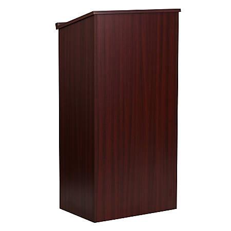 "Flash Furniture Stand-Up Wood Lectern, 45-3/4""H x 23""W x 15""D, Mahogany"