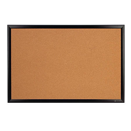 "INFUSE Cork Bulletin Board, 36"" x 48"", Black"
