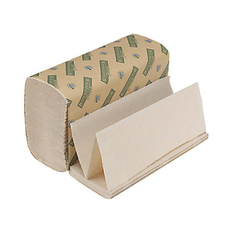 """Boardwalk Green Multi-Fold Paper Towels, 9 1/8"""" x 9 1/2"""", 100% Recycled, Natural White, 200 Per Pack, Case Of 20 Packs"""