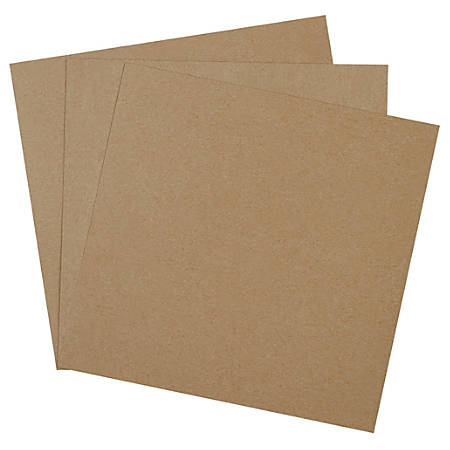 """Office Depot® Brand Chipboard Pads, 14"""" x 14"""", 100% Recycled, Kraft, Case Of 460"""