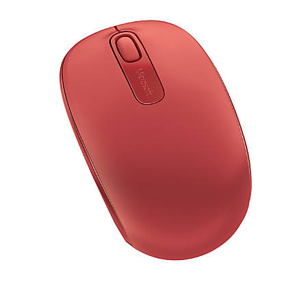 Microsoft® 1850 Wireless Mobile Mouse, Flame Red