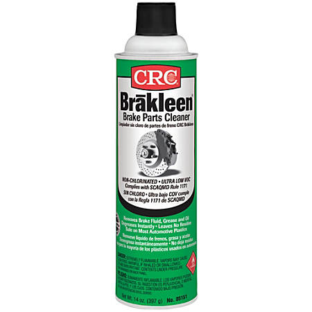 CRC Brakleen® Non-chlorinated Brake Parts Cleaner, Very Low VOC, 14 Oz, Pack Of 12 Cans