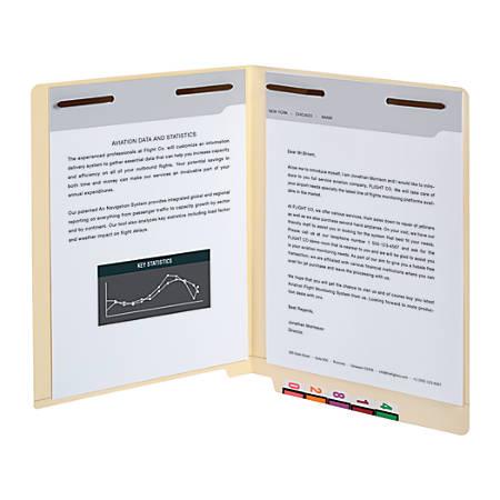 Office Depot® Brand End Tab Fastener Folders, 2 Bonded Fasteners, Straight-Cut Tabs, Letter Size, Manila, Box Of 50