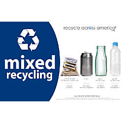Recycle Across America Mixed Standardized Recycling