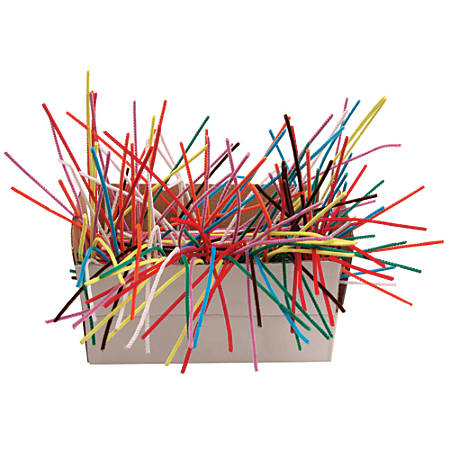 """Creativity Street Chenille Stems, 4mm x 12"""", Assorted Colors, Box Of 1000"""