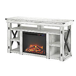 Ameriwood Wildwood Fireplace Melamine TV Stand