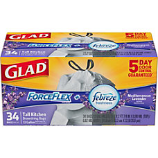 Glad ForceFlexPlus Tall Kitchen Drawstring Trash