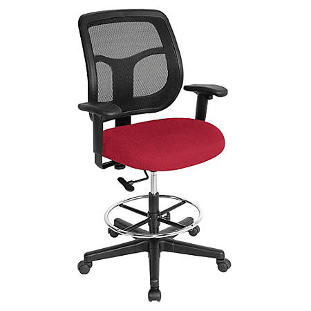 Raynor® Eurotech Apollo VDFT9800 Drafting Stool, Red Insight Real Red