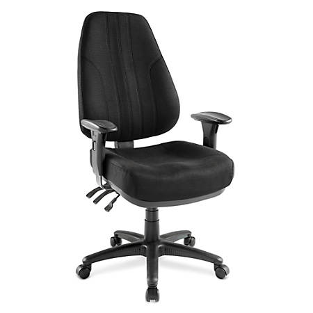 "Raynor® Miranda Multifunction High-Back Chair, 48""H x 26""W x 24""D, Black"