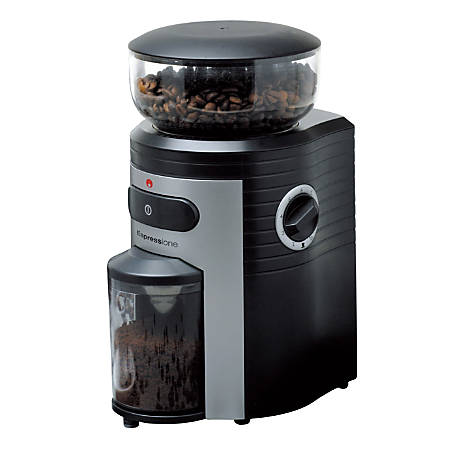 Espressione Conical Burr 10-Cup 15-Level Coffee Grinder, Black