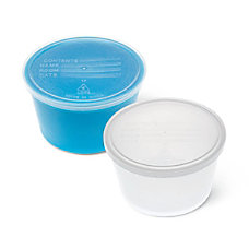 Medline Denture Containers Aqua Pack Of