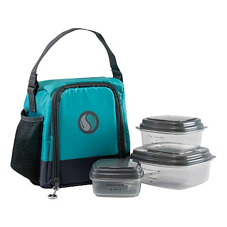 Fit & Fresh Meal Management Smart Portions Lunch Bag Set, Teal