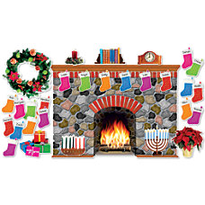 Scholastic Teachers Friend Holiday Hearth Bulletin