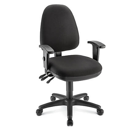 WorkPro® Patriot Multifunction Fabric Task Chairs, Black/Black