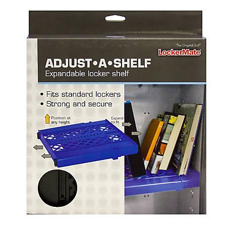 "LockerMate Adjust-A-Shelf Adjustable Locker Shelf, 1-3/4""H x 95""W x 10""D, Assorted Colors"