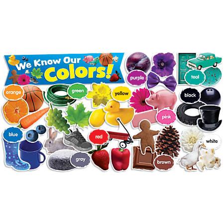 Scholastic Teacher's Friend Colors In Photos Mini Bulletin Board Set, Pre-K - Grade 3