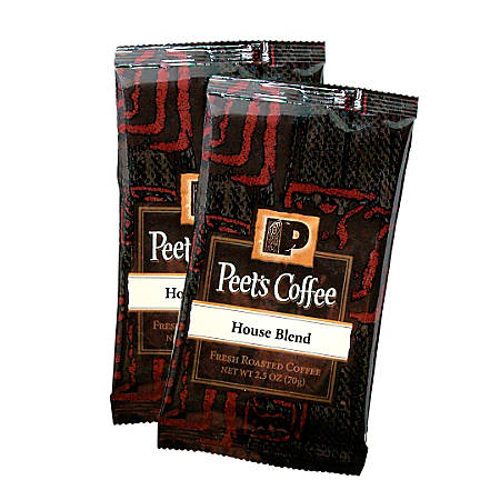 Peet's Coffee And Tea Portion Packs, House Blend Coffee, 2.5 Oz, Pack Of 18
