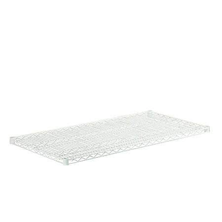 "Honey-Can-Do Plated Steel Shelf, 18"" x 48"", White"