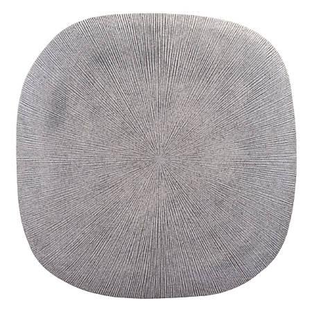 Zuo Modern Square Granite Plaque, Large, Light Gray