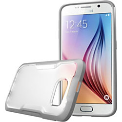 Supcase Galaxy S6 Unicorn Beetle Hybrid Protective Bumper Case - For Smartphone - Gray, Clear Frost - Frosted, Smooth - Thermoplastic Polyurethane (TPU), Polycarbonate
