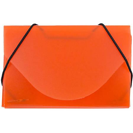 JAM Paper® Business Card Case With Elastic Closure, Orange Frost