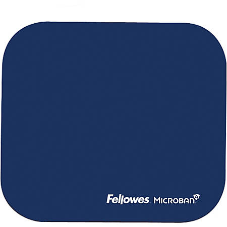 "Fellowes® Mouse Pad With Microban®, 8"" x 9"", Blue"