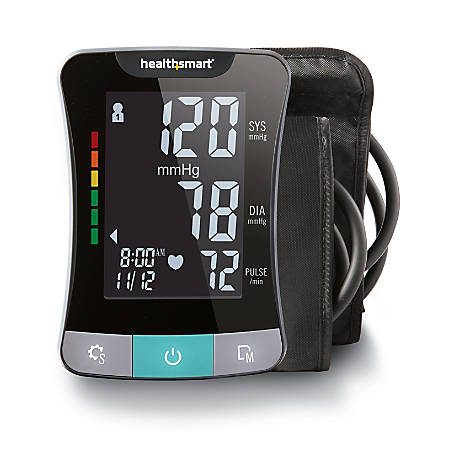HealthSmart® Premium Talking Automatic Digital Blood Pressure Monitor With Standard And Large Cuffs