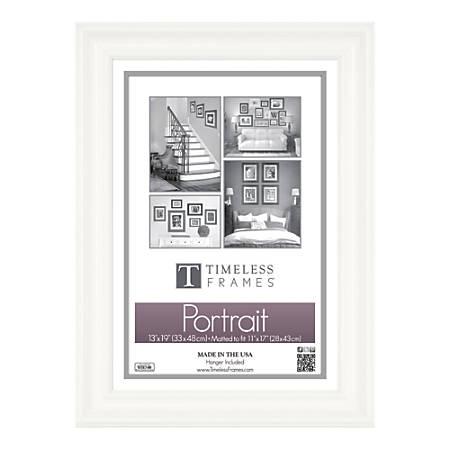 """Timeless Frames® Lauren Frame, Portrait, 13"""" x 19"""", White"""