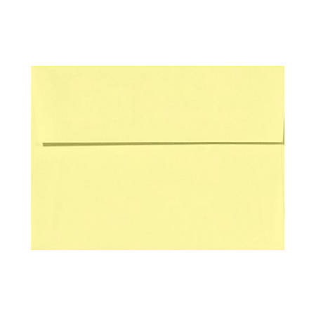 "LUX Invitation Envelopes With Peel & Press Closure, A6, 4 3/4"" x 6 1/2"", Lemonade Yellow, Pack Of 250"