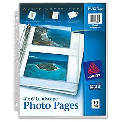 Avery reg Photo Storage Pages Width3